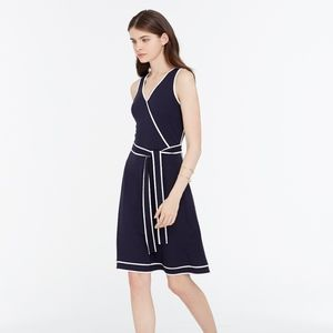 Ann Taylor Tipped Jersey Wrap Dress